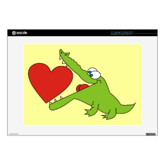 Cute Cartoon Crocodile Laptop Skin