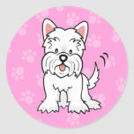 Cute Cartoon Cute Cartoon Westie Sticker
