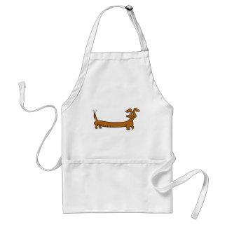 Cute Cartoon Dacjshund Adult Apron