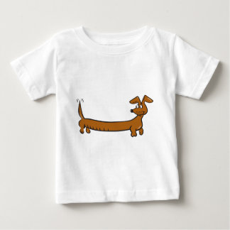 Cute Cartoon Dacjshund Baby T-Shirt