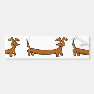 Cute Cartoon Dacjshund Bumper Sticker