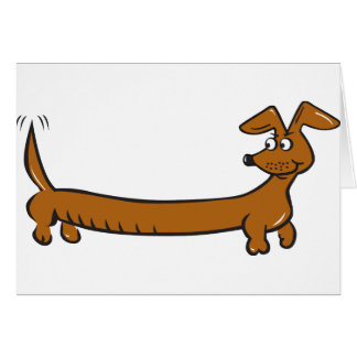 Cute Cartoon Dacjshund Card