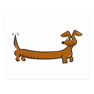 Cute Cartoon Dacjshund Postcard