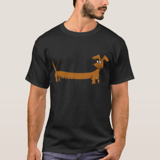 Cute Cartoon Dacjshund T-Shirt