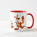 Cute Cartoon Dad Kangaroo and Joey Mug