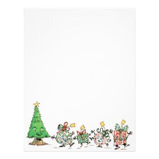 Cute Cartoon Dancing Christmas Presents and Tree Flyer