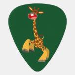 Cute Cartoon Dancing Giraffe Guitar Pick