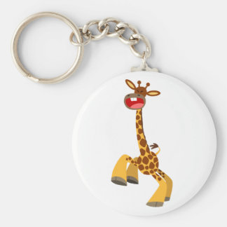 Cute Cartoon Dancing Giraffe Keychain