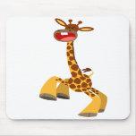 Cute Cartoon Dancing Giraffe Mousepad