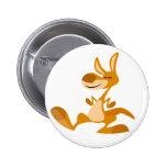 Cute Cartoon Dancing Kangaroo Button Badge