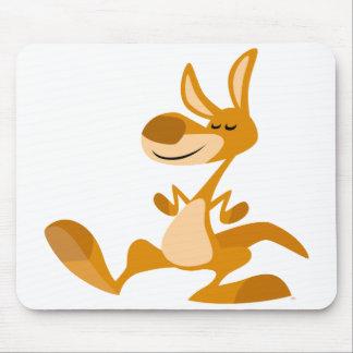 Cute Cartoon Dancing Kangaroo Mousepad