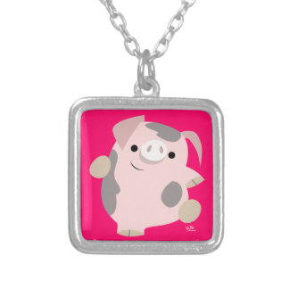 Cute Cartoon Dancing Pig Necklace