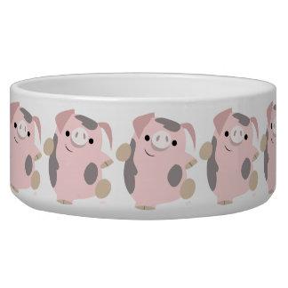 Cute Cartoon Dancing Pig Pet Bowl