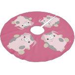 Cute Cartoon Dancing Pig Tree Skirt