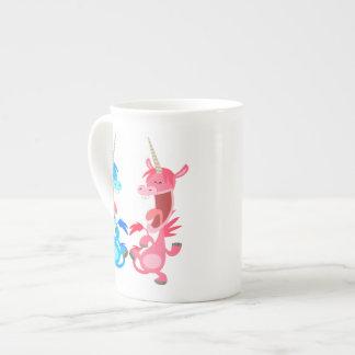 Cute Cartoon Dancing Unicorns Bone China Mug