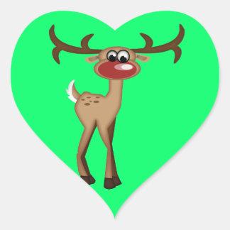 Cute Cartoon Deer Heart Sticker