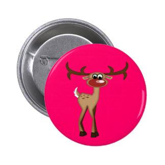 Cute Cartoon Deer Pinback Button