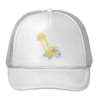 cute cartoon digger and cats trucker hat
