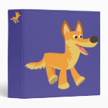 Cute Cartoon Dingo 3 Ring Binder
