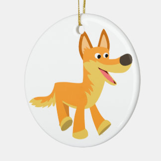 Cute Cartoon Dingo Ceramic Ornament