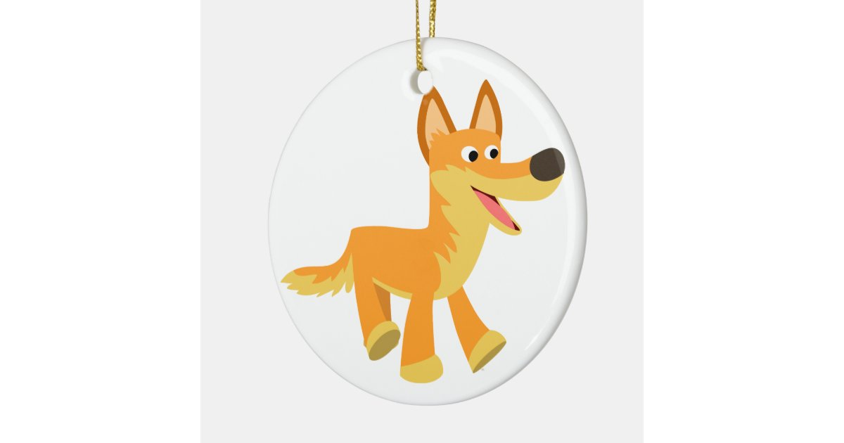 a41d7f5c379d Cute Cartoon Dingo Ceramic Ornament