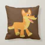 Cute Cartoon Dingo Throw Pillow