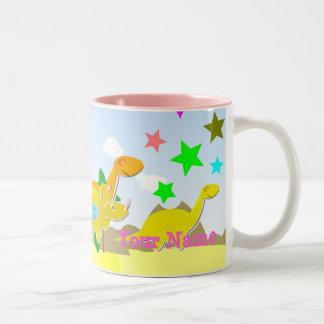 Cute Cartoon Dinos Your Name Mug
