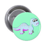 Cute Cartoon Dinosaur Button