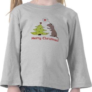 Cute Cartoon Dinosaur Christmas