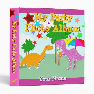 Cute Cartoon Dinosaur My Party Photo Album Binder