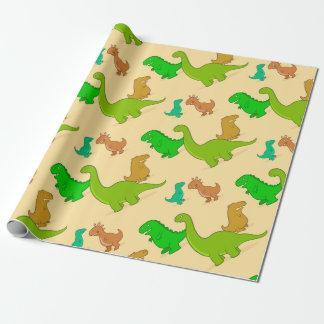 Cute Cartoon Dinosaur Pattern Wrapping Paper