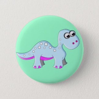 Cute Cartoon Dinosaur Pinback Button