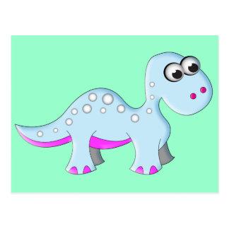 Cute Cartoon Dinosaur Postcard