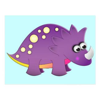 Cute Cartoon Dinosaur Post Card