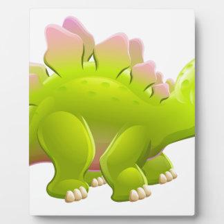 Cute Cartoon Dinosaur Stegosaurus Plaque