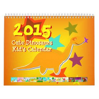 Cute Cartoon Dinosaurs Calendar 2015 for Kids