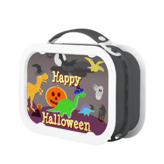 Cute Cartoon Dinosaurs Happy Halloween Lunchboxes