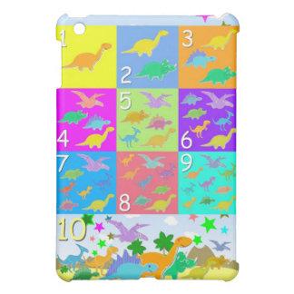 Cute Cartoon Dinosaurs Numbers 1 - 10 Count iPad Mini Covers