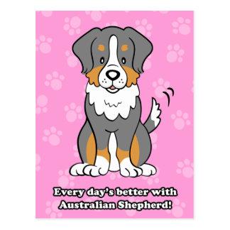 Cute Cartoon Dog Australian Shepherd Postcard