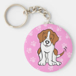 Cute Cartoon Dog Beagle Keychain