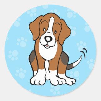 Cute Cartoon Dog Beagle Sticker