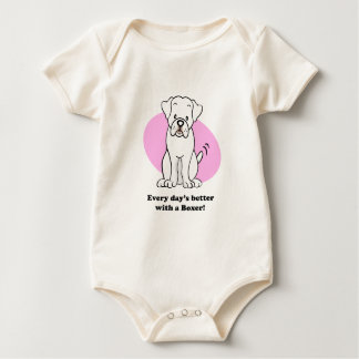 Cute Cartoon Dog Boxer Baby Tee