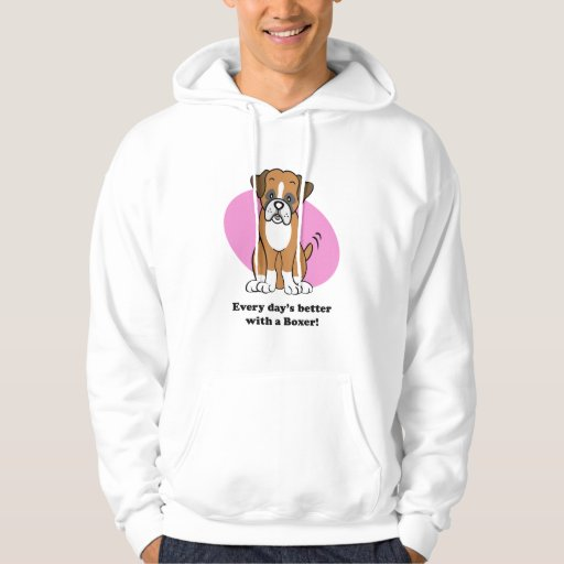 Cute Cartoon Dog Boxer Hoodie