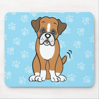 Cute Cartoon Dog Boxer Mousepad