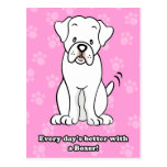 Cute Cartoon Dog Boxer Postcard