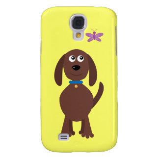 Cute Cartoon Dog & Butterfly Customizable Charity Galaxy S4 Covers