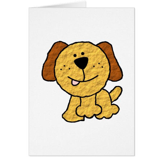 Cute Cartoon Dog Card