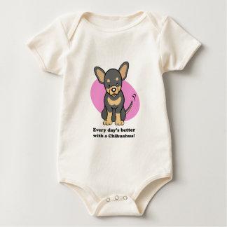 Cute Cartoon Dog Chihuahua Baby Tee