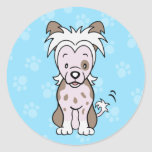 Cute Cartoon Dog Chinese Crested Sticker