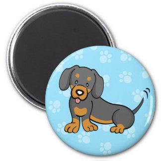 Cute Cartoon Dog Dachshund Magnet